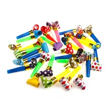 Noise Makers Blowers Blowouts Whistles Birthday Noisemaker Kid Toy Party Supplies 30Pcs Event Party Kits(China)