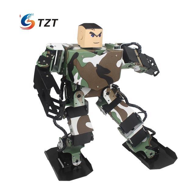 Soldier King 16DOF Smart Humanoid Robot Contest Dance Programmable Biped Robotics with Servos/Handle/Controller Assembled
