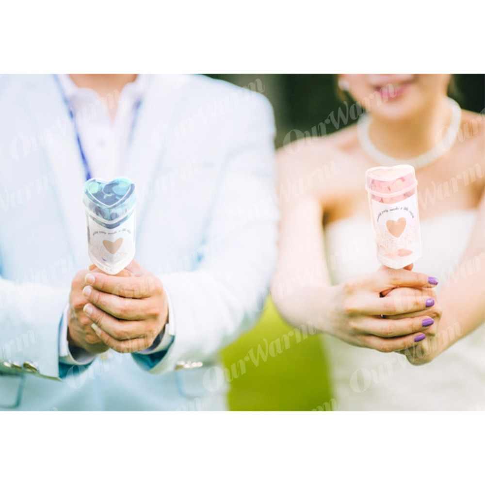 OurWarm 10 Pcs Coração Empurrar Poppers Confetti Casamento Push Pop para a Graduação Aniversário de Casamento Aniversário Decorações Do Chá de Panela