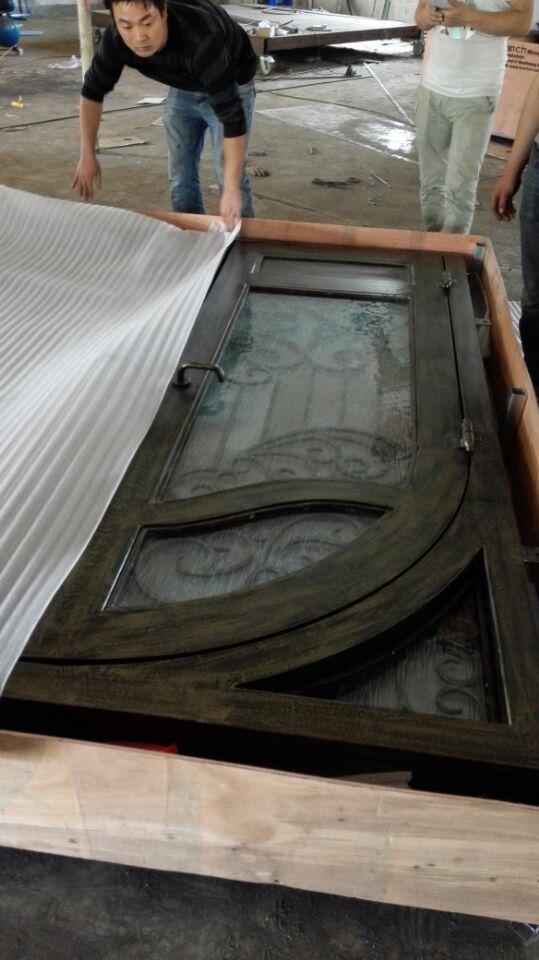 Hench 100% Steels Metal Iron Front Doors With Sidelights Door Store Glass