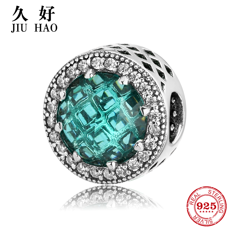 New arrival 925 Sterling Silver Sexy Bright Green round Beads Fit Original Pandora Charms Bracelet women Accessories Jewelry
