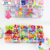 BT RACER Girl Bead Necklace Set DIY Jewelry Toys Crystal String Beads Bracelet Building Block Kit