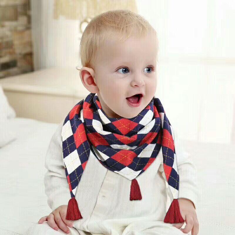 Children Cotton Boy Girl Scarf Shawl Bibs Neckerchief Neck Saliva Bib