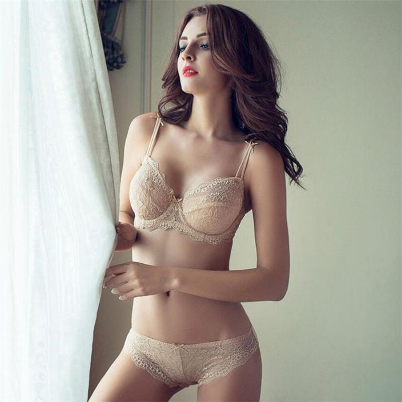 c6bbd2cb9b0 2019 Underwire Underwear Women Lace Bra Set Thin Sexy Lingerie Bras ...