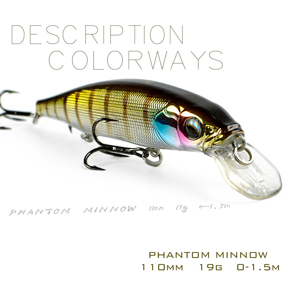 THE TIME Branded Newest Model Phantom 110SP Suspend Fishing Wobbler Minnow 110mm 19g Artificial Bait For Pike And Bass Fishing