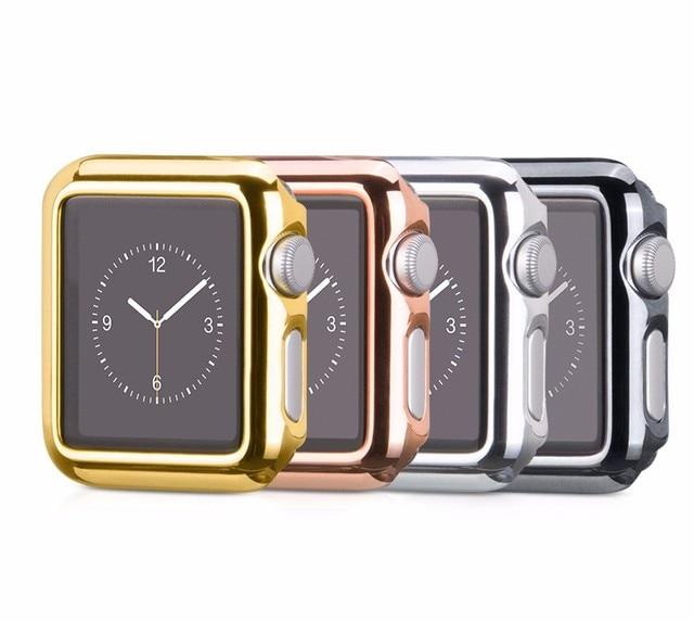 НОСО Ультратонкие Позолоченные Покрытие Защитный Чехол для Apple Watch iwatch 38 мм 42 мм Series1 Series1