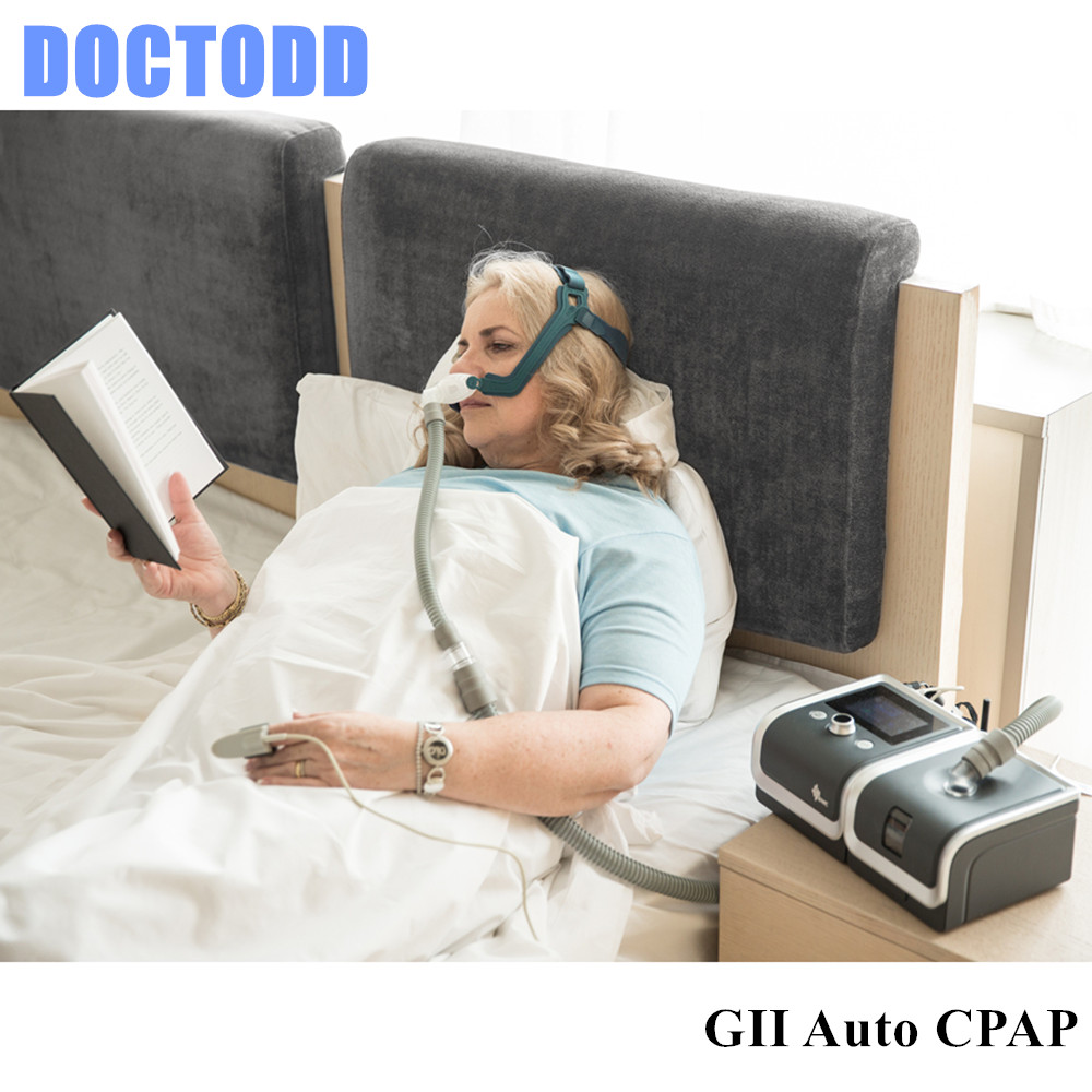 DOCTODD GII Auto CPAP Sleeping Machine E-20AH-O Portable Ventilator For Sleep Snoring Apnea W/ Humidifier Mask Hose SD Card Bag doctodd gii bpap t 20s cpap machine w free mask humidifier and spo2 kit respirator for apnea copd osahs osas snoring people