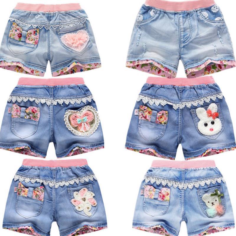 El Verano Ropa Bebe Pantalones Cortos de Jeans Rotos Ni/ños 2-8 A/ños de Edad