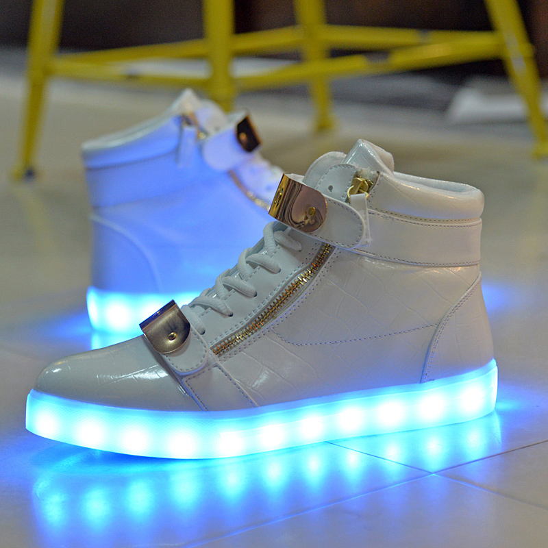 Colorful Adult Led Lights Usb Charging Colorful Shoes Mesh Mens Models Luminous Shoes Shoes High Safety Men's Casual Shoes