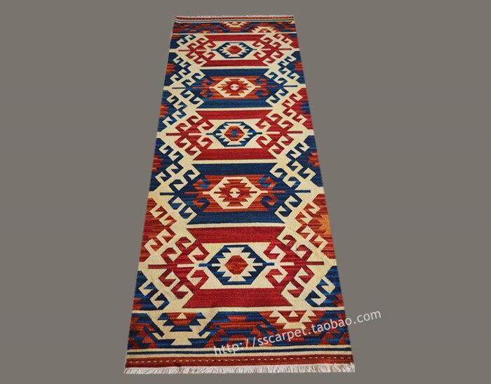 Kilim manuel tissage laine tapis un salon couloir bande tapis terre à Haibo Sago deuxième système continu ameublement