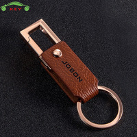Car Styling Leather Keychain For Business Gift Auto Men Key Rings For VW Volkswagen Volvo BMW