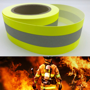 Reflective Flame Retardant Fabric Material with 100% Cotton Backing Sew On clothing - discount item  32% OFF Roadway Safety