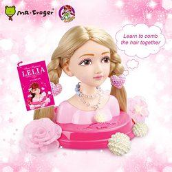 Lelia moda estilista penteado artesanal modelo de cabelo brinquedo kawaii vida real americano menina bonecas brinquedo fingir jogar beleza moda brinquedo