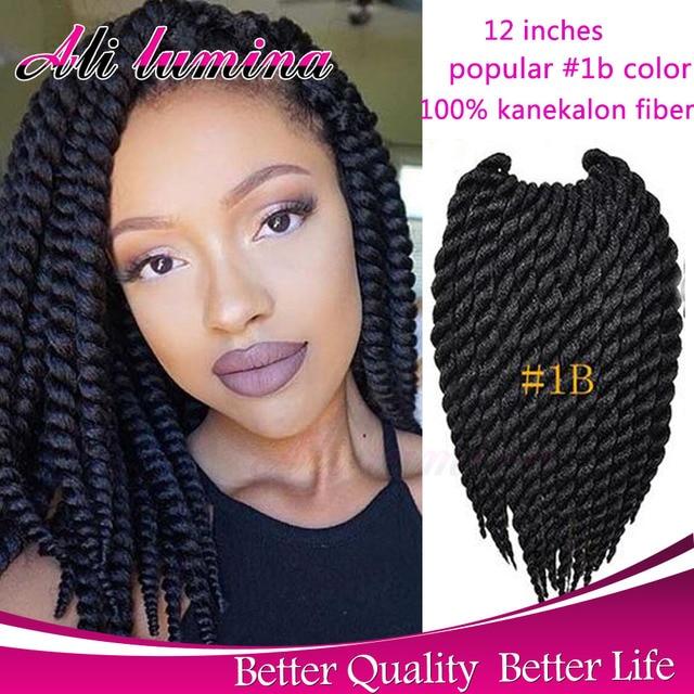 Marley Crochet Braid Hair Extension 12'' 80g Havana Mambo Crochet Senegalese Twist Synthetic Box Braiding Hair crotchet braids