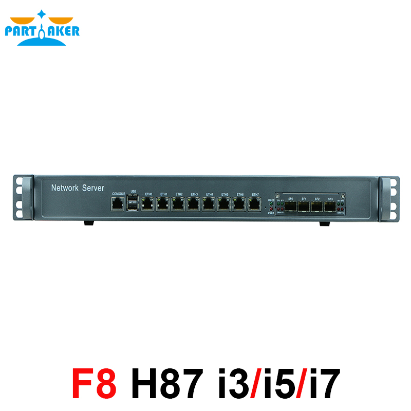 1U Network Firewall Router System with 8 ports Gigabit lan 4 SPF Intel G3250 3.2Ghz Mikrotik PFSense ROS Wayos network routers with 6 intel pci e 1000m 82574l gigabit lan intel dual core i3 3220 3240 3 3ghz with mikrotik ros 2g ram 32g ssd