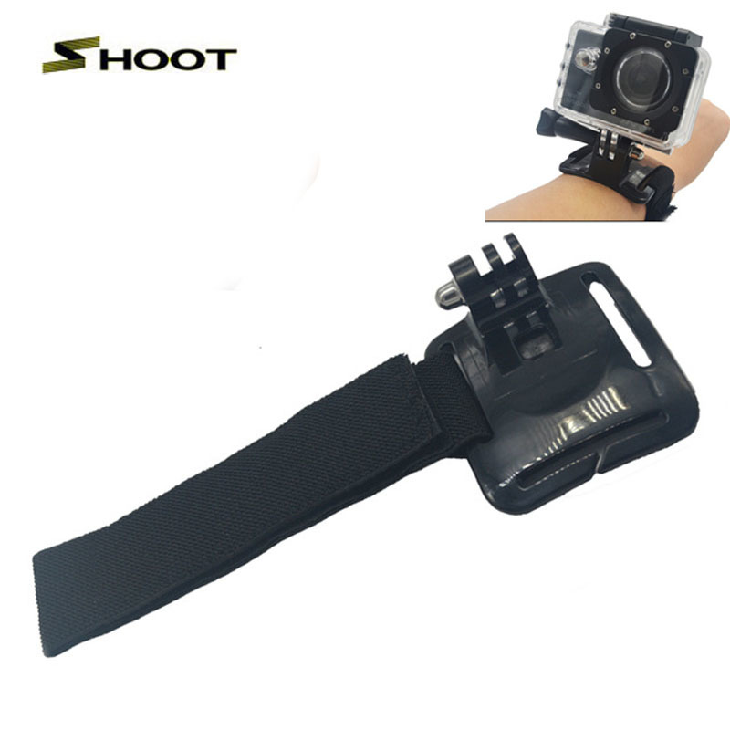 GoPro Adjustable Black Elastic Wrist Strap Hand Strap Belt Mount For Gopro Hero 3 3+ 4 sj4000 Xiaomi Yi Sport Camera Accessories