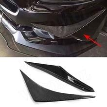 Углеродное волокно переднего бампера разветвители боковые плавники акулы Canards для Ford Mustang 2015 2016 2017 2018 2019