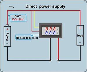 Image 2 - Ledアンプデュアルデジタル電圧計ゲージ 0.28 dc 0 100v 0 10Aデジタル電圧計電流計テスターvoltimetro ledデュアルディスプレイ