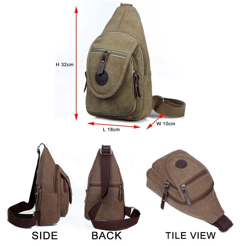 Nova torba za remen Platno grudi za muškarce Muške vrećice za - Torbe - Foto 2