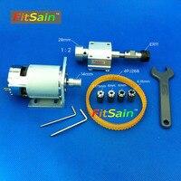 FitSain 775 DC24V 8000RPM Belt Spindle Pulley ER11 Collet Chuck CNC Spindle Collet Set From 1
