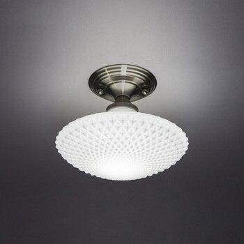 לבן זכוכית UFO אור תקרת מסדרון מרפסת סלון מנורת תקרת תקרת מסדרון מלון מנורת גופי תאורה-בתאורת תקרה מתוך פנסים ותאורה באתר