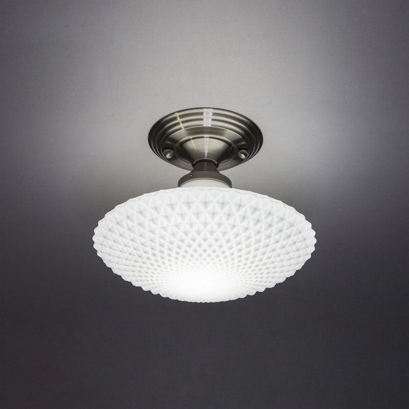 White Glass UFO Corridor Ceiling Light Living Room Balcony Ceiling Lamp Lamp Hotel Hallway Ceiling Lighting Fixtures fumat stained glass ceiling lamp european church corridor magnolia etched glass indoor light fixtures for balcony front porch