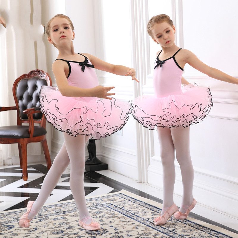 Girls Child Ballet Tutu Dance Elegant Dress Dancewear Princess Party Dress Ballet Clothes For Kids Gymnastics Leotard Costumes