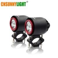 CNSUNNYLIGHT Turbo LED Headlight Spotlight Flash Strobe Light 20W 3400Lm White Motorcycle Fog Headlamp Hunting Driving Lamp