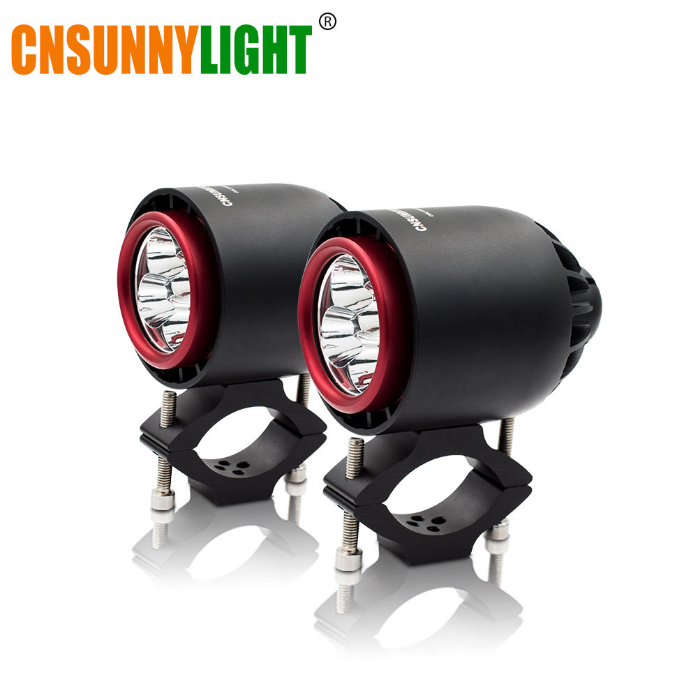 CNSUNNYLIGHT Turbo LED Headlight Spotlight Flash Strobe Light 20W 3400Lm White Motorcycle Fog Headlamp Hunting Driving Lamp dy6020 20w car spotlight headlight