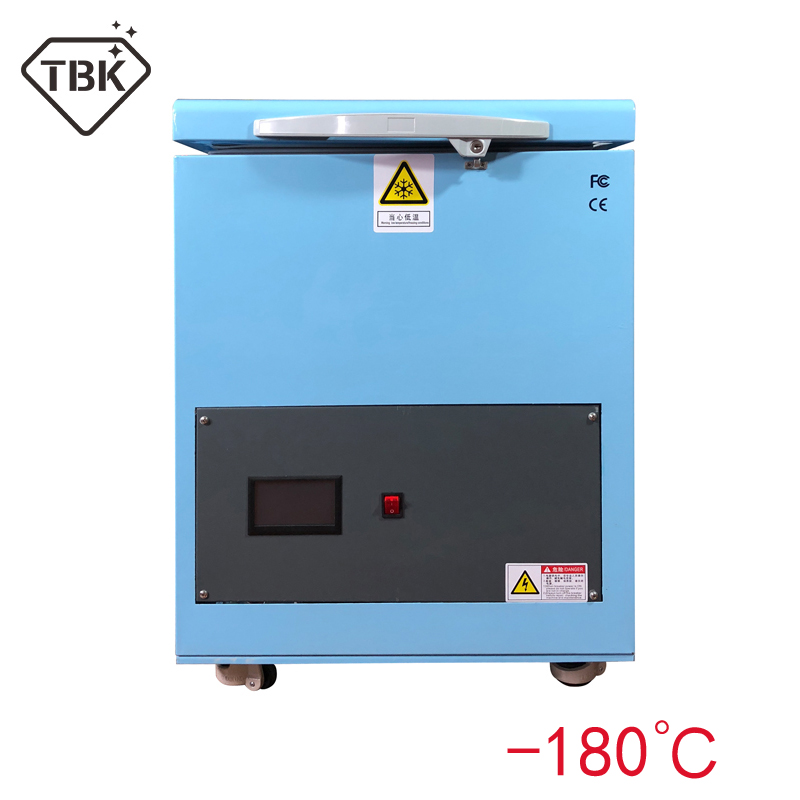 180 degree TBK Professional Mass 180C LCD Touch Screen Freezing Separating Machine LCD Panel Frozen Separator Machine for edge