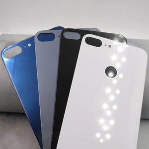 Image 2 - Huawei 社の名誉 9 Lite のオリジナルバックカバー PC + ガラスバッテリーケース、名誉 9 Lite ドアリア交換ハウジングカバーとロゴ