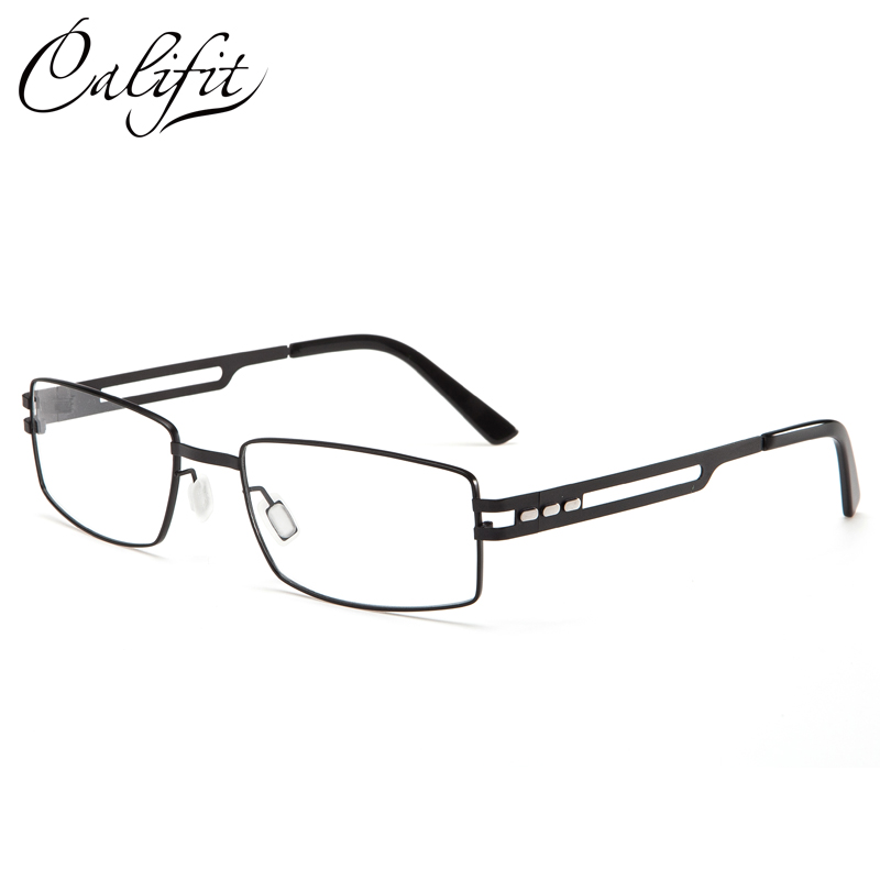 CALIFIT 100% Pure Titanium Optical Glasses Men With Prescription Lens Brand Design Ultralight Astigmatism Glasses Men Eyeglasses
