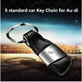 New Arrival High Quality Leather Car Logo Keychain For Au-di S Standard Key Chain Ring Keyring Key Holder,free shipping
