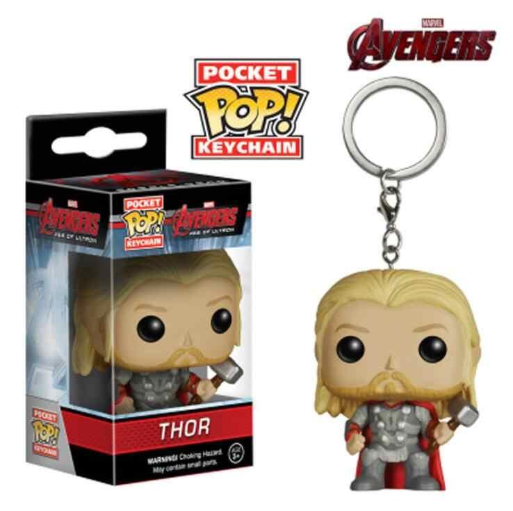 Funko POP брелок Мстители Тор супер герой персонажи Dragon Ball фигурка Коллекционная модель рождественские игрушки с коробкой