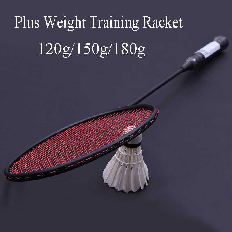 LOKI 120g/150g/180g Professional Plus Weight Carbon Badminton Racket Wrist Strength Training Badminton Racquet