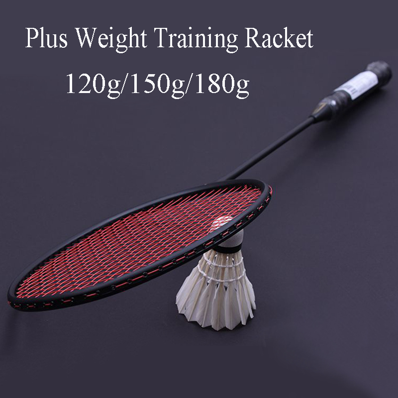 120g/150g/180g Professional Plus Weight Carbon Badminton Racket Wrist Strength Training Badminton Racquet