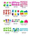 4-8 pçs/lote Massinha Argila Do Polímero Playdough Plasticina Molde Conjunto de Ferramentas Kit de Areia Da Praia Do Brinquedo Começar Do Bebê Dos Miúdos habilidade Traning Brinquedo