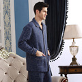 Autumn Men Pajama Set Winter Full Sleeve Male Pyjama Sleepwear Thick Combined Cotton Warm Loungewear Soft Home Clothes Plus Size