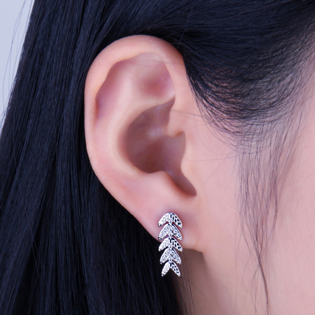 Leaf Filigree Stud Earrings