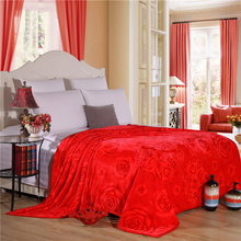 Big Red Solid Color Print 1 Pcs Bedding Blanket Thick Throw Blanket On Sofa Bed Plane Travel Plaids Adult Home Textile 3 Size