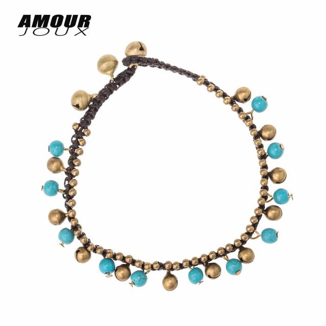 Amourjoux/летние плетеные цветные каменные бусинки колокольчики