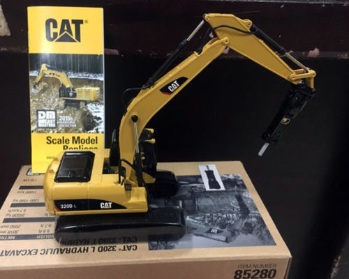 New Cat 320D L Hydraulic Excavator With Hammer 1/50 DieCast 85280 By DM Model large 24x24 cm simulation white cat with yellow head cat model lifelike big head squatting cat model decoration t187