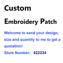 Custom Embroidery Patch Please contact the seller first to get a quote