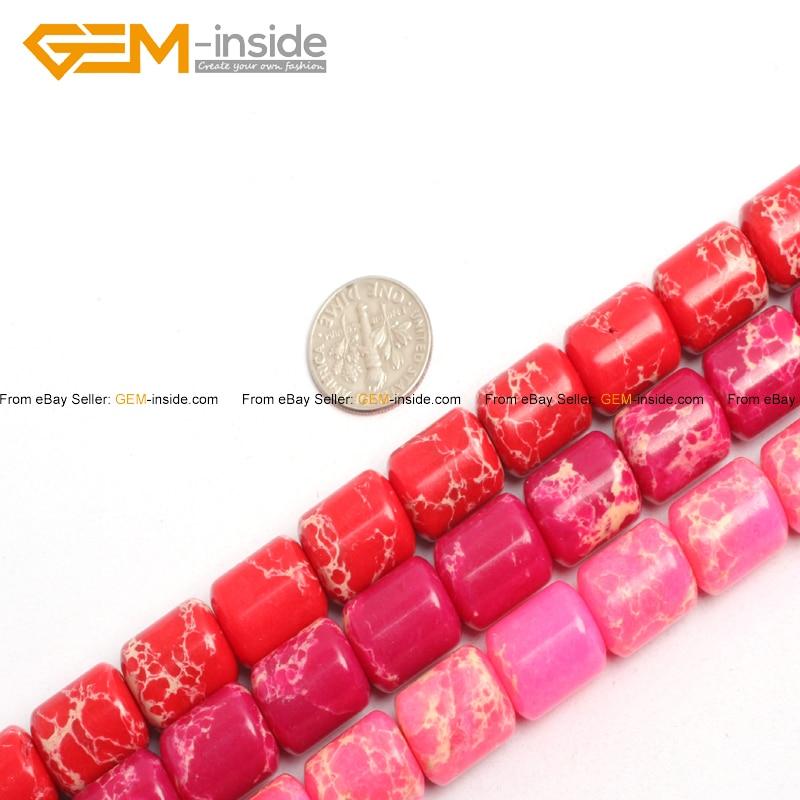 58085f509c8a Mar sedimento Jaspers piedra perlas para joyería hacer 12X14mm 15 pulgadas  joyería DIY joyería FreeShipping Gem -En el interior