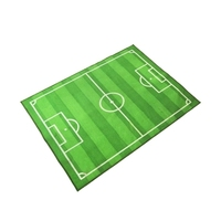 Kids Rugs and Carpets for Kids Home Living Room Kids Rug Playroom Mat Football Pitch Design Carpet Childrens Room Boys Green Rug