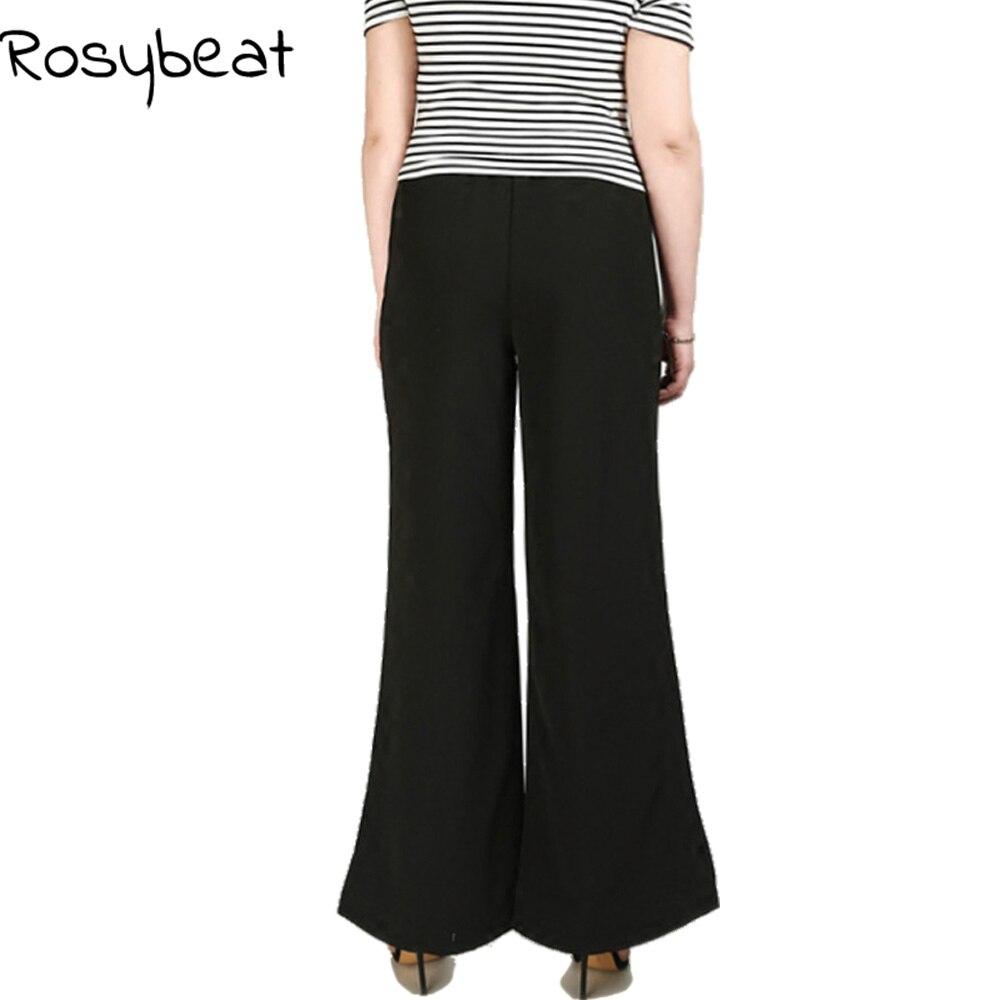 63f4841f37 Spodnie Flare dla kobiet duże rozmiary kobiety odzież 4xl 5XL 6XL damskie  spodnie duży rozmiar wysoka talia biuro luźna w Spodnie Flare dla kobiet  duże ...