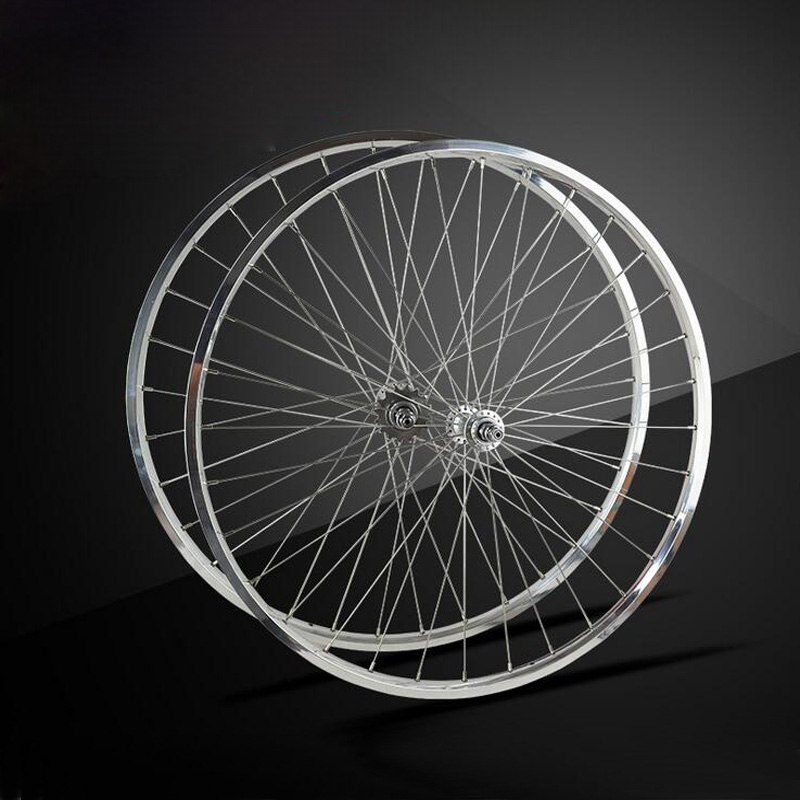 Fixed Gear Bike wheelset Road Bike Wheels rim 32 holes Retro Aluminium Alloy Bike Accessories Racing Bicycle Wheel Super <font><b>Light</b></font>