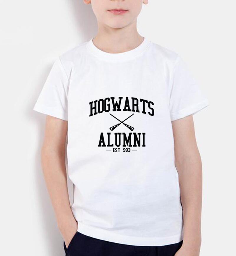 2018 new fashion t shirts kids Hogwarts Alumni Harry Inspired Magic Camisetas Tees Swag short sleeve children t shirts boys tops fashion long sleeve o neck t shirt 2017 new arrival men t shirts tops tees men s cotton t shirts 3colors men t shirts m xxl