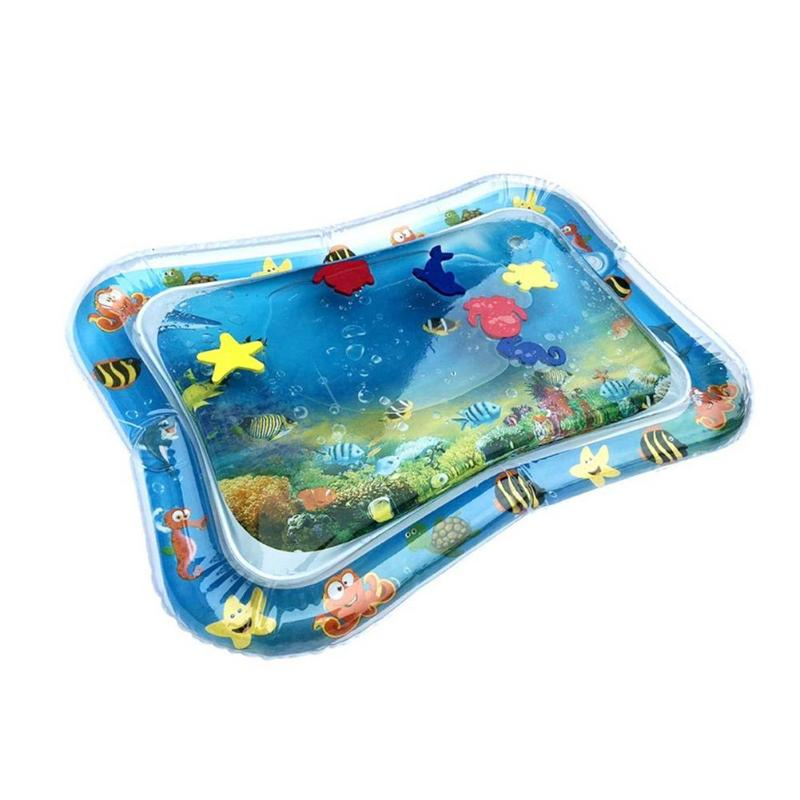 Baby Kids Water Play Mat Inflatable Thicken PVC Infants Tummy Time Playmat Toy Educational Activity Play Center For Baby Kids