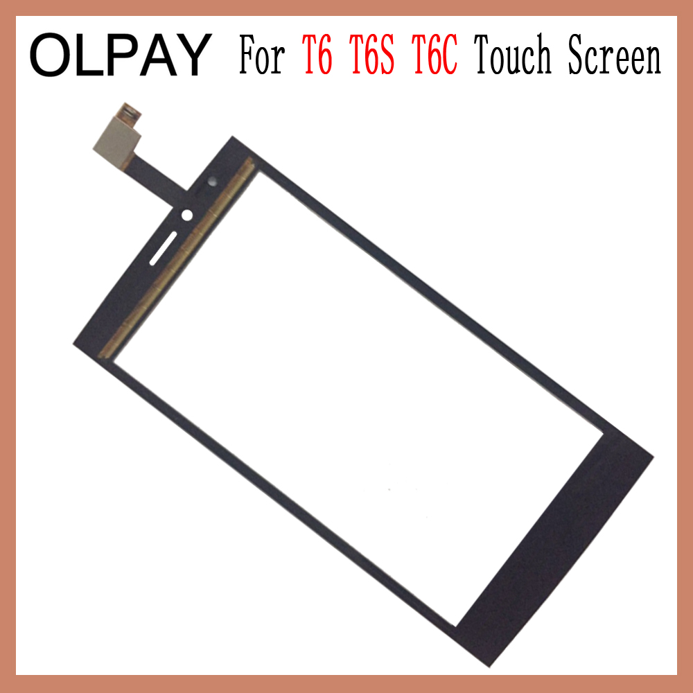 Image 2 - OLPAY 5.0'' Touch Glass Panel For THL T6 T6S T6C Touch Screen Digitizer Glass Sensor Tools Free Adhesive+Clear Wipes-in Mobile Phone Touch Panel from Cellphones & Telecommunications